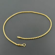 "10K YELLOW GOLD 1.9MM CLASSIC ROPE CHAIN 10"" ANKLET"