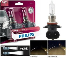 Philips VIsion Plus 60% 9005 HB3 65W Two Bulbs Head Light High Beam Halogen Lamp