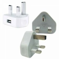 Triangle UK USB Wall Plug Charger Adapter White for Iphone 5, 6, 7, 7p, 8, 8p,X,