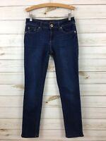 DL1961 Women's Angel Mid-Rise Skinny Ankle Stretch Dark Wash Jeans. 25(0).