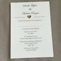 10 Personalised Wedding Evening Invitations Invites Classic Vintage Rustic Heart