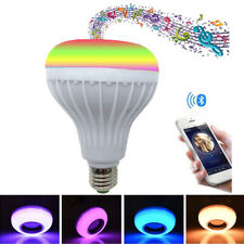 12W E27 B22 LED Light Bulb Smart Bluetooth RGBW Music Speaker+IR Remote Control