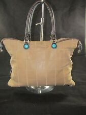 GABS Made In Italy Tan Patchwork Leather Handbag - EUC