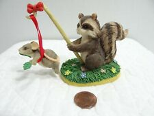Charming Tails Silvestri Training Wings Raccoon Mouse Figurine 87398