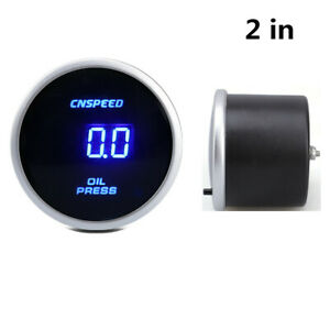 2in 52MM 0-10 Bar Digital Display Oil Pressure Gauge Meter With Sensor For Car