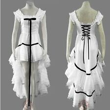 Chobits Eruda Cosplay Costume Lolita Dovetail Pleated  Dress (2styles)