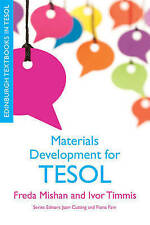 Materials Development for TESOL (Edinburgh Textbooks in TESOL), Very Good Condit