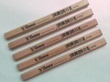CARPENTERS PENCILS X 5 C.H.HANSON Hard lead #10378 USA quality wood finish