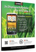 3x Displayschutzfolie für HTC One X Schutzfolie Clear Display Schutz Folie Klar