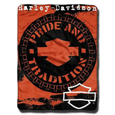 "Harley-Davidson Wheels 46"" x 60""  Throw Blanket - 04709"