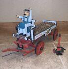 Handmade Wood Miller Beer Wagon Antique Carriage Americana Hand Truck 17 Barrels