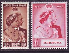 Bermuda 1948 SC 133-134 MH Set Silver Wedding