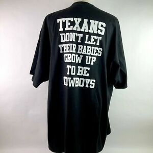 NFL Houston Texans Don't Let Them be Cowboys Black T-Shirt Men's Size 4XL