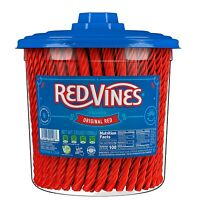 Red Vines Licorice,Original Red Flavor,Soft & Chewy Candy Twists Snacks Fat Free