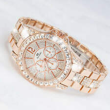 Diamond Luxury Watches Lady Gifts Ladies Rose Gold Watches Quartz Wristwatch