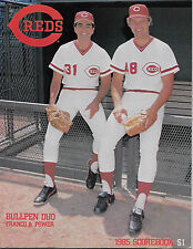 1985 Reds vs. Dodgers Program  ROSE-PEREZ-PARKER-VALENZUELA-HERSHEISER-LASORDA