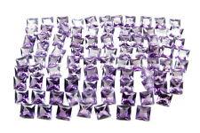 Fine Quality 113.7Ct 90pc Lot Purple Cubic Zirconia Square Faceted Gemstones