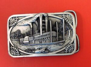 Vintage 1983 Riverboat Siskiyou  Belt Buckle
