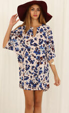 Polyester Short Sleeve Floral Dresses for Women