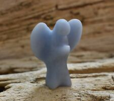 Angelite Angel Carved from Peru Reiki Charged Meditation Crystal