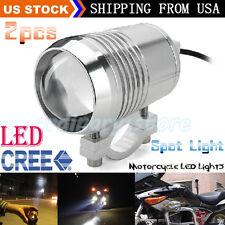 2pcs CREE U2 30W LED Motorcycle Driving Headlight Fog Lamp Spot Light + Switch