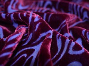 Silk/Viscose Velvet Devoré – Waterfall – Shiraz and Blue Purple