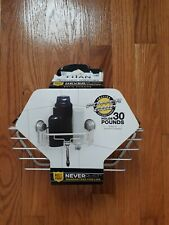 Titan Power Grip Neverrust Suction Corner Shower Basket
