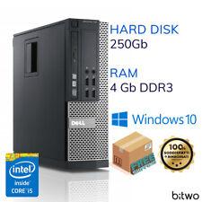 PC COMPUTER DESKTOP FISSO DELL RICONDIZIONATO CORE i5-2400 4GB 250GB WINDOWS 10