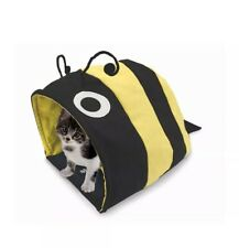 Petrageous Designs Crinkle Cat Cave (Bumble Bee) Collapsible 19x12x10 *NEW*