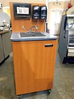 Mobile Hand Sink Station Self Contained w/ Hot Water Heater & Reserve Tanks 115
