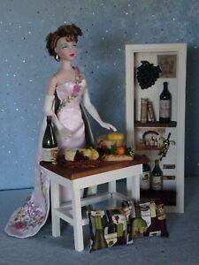 "AllforDoll DIORAMA Furniture WINE CELLAR for 16"" Dolls - Tonner Kish Gene Ficon"