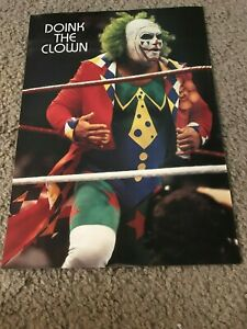 Vintage 1993 DOINK THE CLOWN WWF Wrestling Pinup Photo 1990s RARE