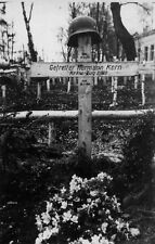 WWII Photo German Soldiers Grave  WW2 B&W World War Two / 2377