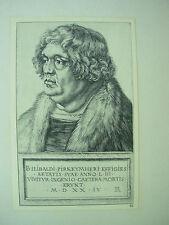 Albrecht DURER VINTAGE incisione su rame Willibald pirckheimer