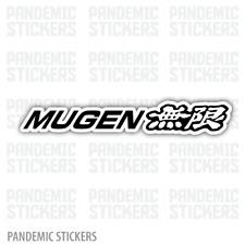 Mugen Decal Sticker Full Color Die Cut  Laptop Car Window Honda Drift Racing JDM