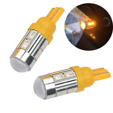 2Pcs T10 158 194 168 W5W 5730 10 smd led Car Light Bulb Lamp super Amber/Yellow