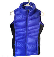 The North Face Womens Sz S Goose Down Puffer Vest 600 Blue Full Zip Pockets
