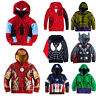Kids Boys Spiderman T-Shirts Tee Pullover Hooded Sweatshirt Sweater Jacket Coats