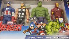 New Marvel Avengers Titan Set Thor, Hulk, Iron Man, Captain America Figures