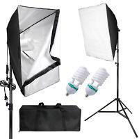 Photography 2pcs Softbox Light Kit Photo Studio Continuous Lighting Stand Set