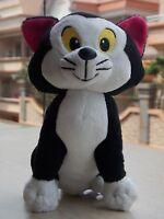 Disney Pinocchio Figaro Cat Plush Stuffed Animal Black cat Toy
