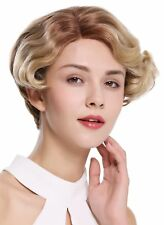 Ladies' Wig Human Hair Mono Lace Short parting Wavy Ombre Braun Blonde
