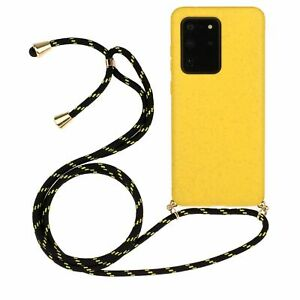 Luxury Solid Color Lanyard Wrist Strap Soft Phone Case For Samsung S10 S20 Plus