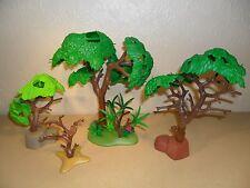 Playmobil arbres forestiers (pour animaux de ferme, zoo, train set)
