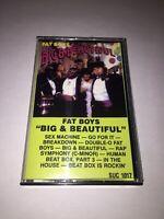Fat Boys Big & Beautiful Cassette Tape Old School Hip Hop Rap 1986