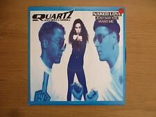 """QUARTZ WITH DINA CARROLL - NAKED LOVE (just say you want me) Vinyl 12"""" 868 471 1"""
