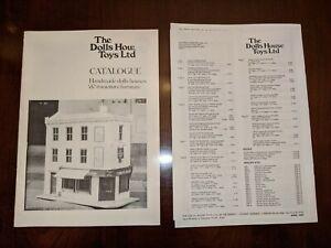 1989 CATALOG 'THE DOLLS HOUSE TOYS LTD' England HANDMADE DOLL HOUSES & FURNITURE