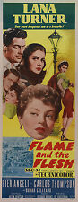 FLAME AND THE FLESH Movie POSTER 14x36 Insert Lana Turner Pier Angeli Carlos