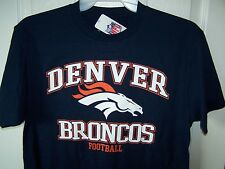 Denver Broncos Blue T Shirt Mens Medium New w Tags Free Shipping