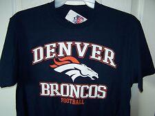Denver Broncos Blue T Shirt Mens Small  New w Tags Free Shipping